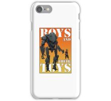 Boys and their toys iPhone Case/Skin
