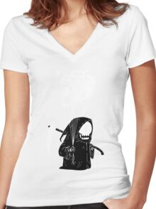 Soul Collector Women's Fitted V-Neck T-Shirt