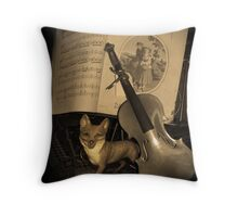 Of Foxes and Violins Throw Pillow