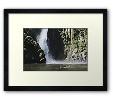 Waterfall at Milford Sound Framed Print