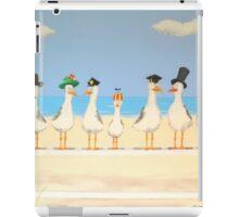 Seagulls with Hats iPad Case/Skin