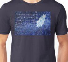 snowflake in blue 7 haiku with texture Unisex T-Shirt