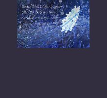 snowflake in blue 7 haiku with texture Unisex T-Shirt
