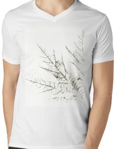 Mapple Leaf in White Mens V-Neck T-Shirt