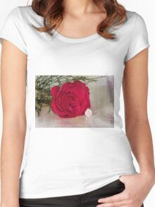 Love YOU Rose  Women's Fitted Scoop T-Shirt