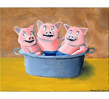 Pigs in a Tub Photographic Print