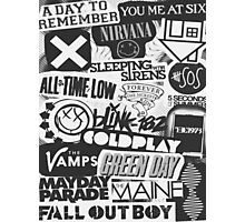 Bands Collage Photographic Print