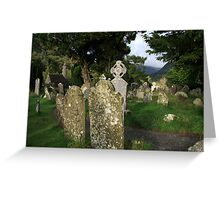 Glendalough cemetery view Greeting Card