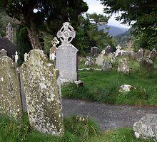 Glendalough cemetery view 1 by John Quinn