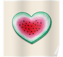 Summer Love - Watermelon Heart Poster