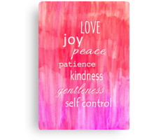 Inspirational Text on Pink Watercolor Abstract Canvas Print