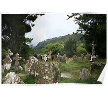 Glendalough old cemetery Poster