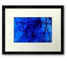 blu lines Framed Print