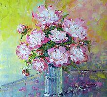 Pink Peonies by Claudia Hansen