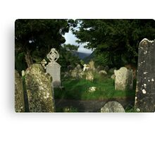 Glendalough old cemetery Canvas Print