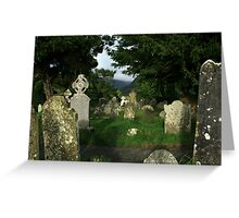 Glendalough old cemetery Greeting Card
