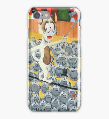Cat on a Wire iPhone Case/Skin