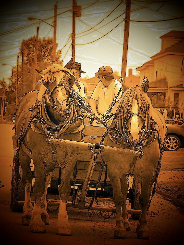 Horse Drawn Wagon by Gene Cyr
