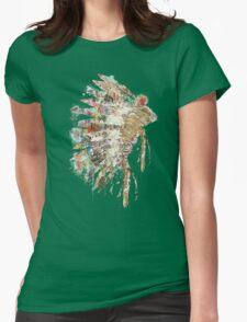Native Headdress Womens Fitted T-Shirt