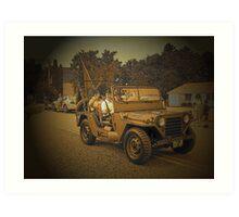 Retired Jeep Art Print