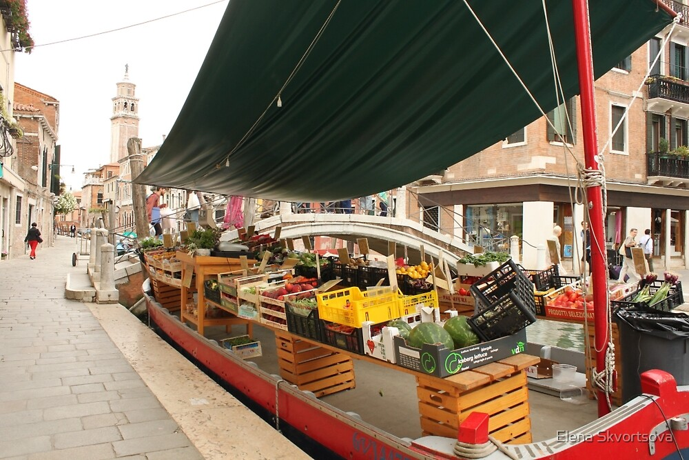 Selling fruits in Venice by Elena Skvortsova