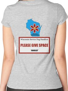 Wisconsin Service Dog Handlers - HANDLER Women's Fitted Scoop T-Shirt