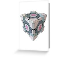 companion cube Greeting Card