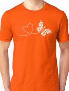 Butterfly, Heart, Forever Love, Valentine´s Day Unisex T-Shirt