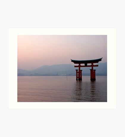 Sunrise at Miyajima Art Print