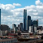 Building Melbourne, a view from Bolte Bridge  by haymelter