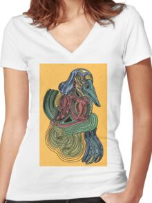 Bird of a Black Feather Women's Fitted V-Neck T-Shirt