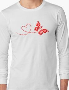 Butterfly, Heart, Forever Love, Valentine´s Day T-Shirt