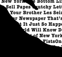 Newsies Jumper - Newspaper Filled Sticker
