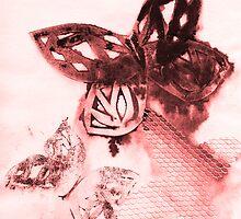 bleeding butterflies #2 by Ness Fitzgerald