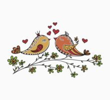 LOVE BIRDS, VALENTINE`S DAY, HEARTS, COLOR Kids Clothes