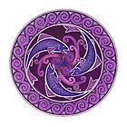 Purple Fish Spiral by Rebecca Postanowicz