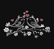 LOVE BIRDS, VALENTINE`S DAY, HEARTS, COLOR Baby Tee