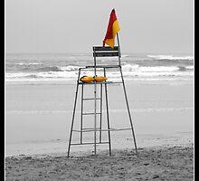 Life savers chair on Gonubie beach by Andy Chadwick