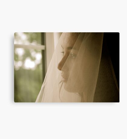 Excited Bride!  Canvas Print