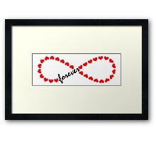 Forever Love, Infinity Loop, Hearts, VALENTINE`S DAY Framed Print