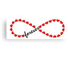 Forever Love, Infinity Loop, Hearts, VALENTINE`S DAY Canvas Print
