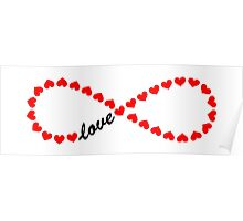 Forever Love, Infinity Loop, Hearts, VALENTINE`S DAY Poster