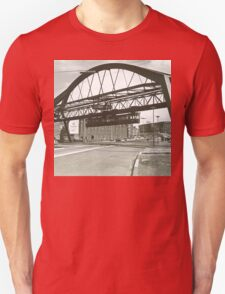 Vintage Wuppertal Floating Train Photo T-Shirt