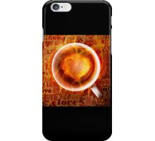 Burning love is in your feature. iPhone Case/Skin