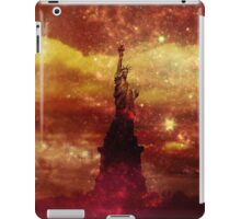 Lady Liberty red and yellow stars iPad Case/Skin