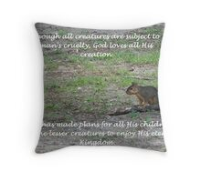 All Creatures Great and Small Throw Pillow