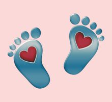 Baby feet with heart Kids Clothes