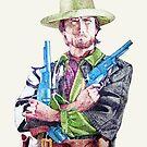 Clint Eastwood by Arie van der Wijst