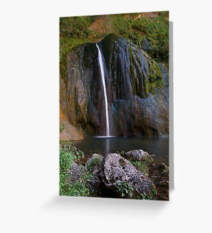 Cascade de Courmes - Gorge du Loup Greeting Card
