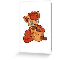 Chibi Vulpix Greeting Card